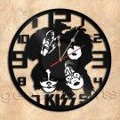 Kiss Band Wall Clock Vinyl Record Clock