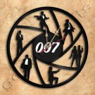 James Bond 007 Wall Clock Vinyl Record Clock