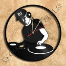 Wall Clock DJ On Deck Vinyl Record Clock