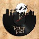 Peter Pan Wall Clock Vinyl Record Clock