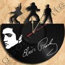 Elvis Presley Vinyl Record Clock