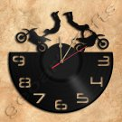 Dirt Bike Wall Clock Theme Record Clock