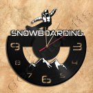 Snowboarding Wall Clock Vinyl Record Clock