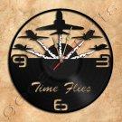 Acro Plane Team Wall Clock Vinyl Record Clock