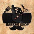 Barber Shop Vinyl Record Clock