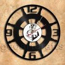 Boat Steering Wall Clock Unique Vinyl Record Clock