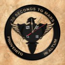 30 Seconds To Mars Wall Clock Unique Vinyl Record Clock