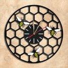 Honeycomb  Vinyl Record Clock Wall Clock