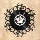 Bicycles Vinyl Record Clock Wall Clock