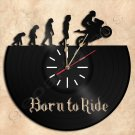 Born to Ride Vinyl Record Clock Wall Clock Handmade