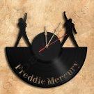 Freddie Mercury Wall Clock Vinyl Record Clock