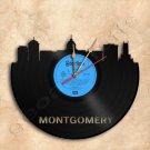 Montgomery Skyline Vinyl Record Clock Wall Clock Handmade