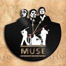 Muse Band Wall Clock Vinyl Record Clock Handmade