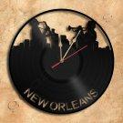 New Orleans Wall Clock Vinyl Record Clock Handmade