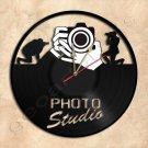 Photo Studio Wall Clock Vinyl Record Clock