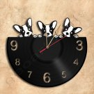 Puppies Wall Clock Vinyl Record Clock Handmade