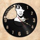 Rihanna Wall Clock Vinyl Record Clock Handmade