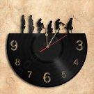 Silly Walk Wall Clock Vinyl Record Clock Handmade