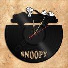 Snoopy Wall Clock Vinyl Record Clock Handmade