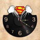 Superman Wall Clock Vinyl Record Clock Handmade