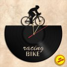 Racing Bicycle Wall Clock Vinyl Record Clock Wall Clock Handmade
