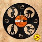 Skateboard Handmade Vinyl Record Clock Wall Clock