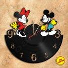 Mickey & Minnie Wall Clock Vinyl Record Clock