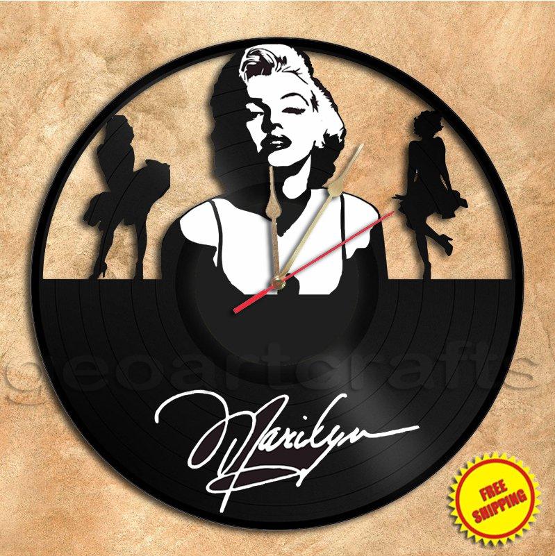 Marilyn Monroe Wall Clock Vinyl Record Clock Handmade