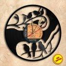 Birds Handmade Vinyl Record Clock Wall Clock