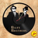 Blues Brothers Wall Clock Vinyl Record Clock Handmade
