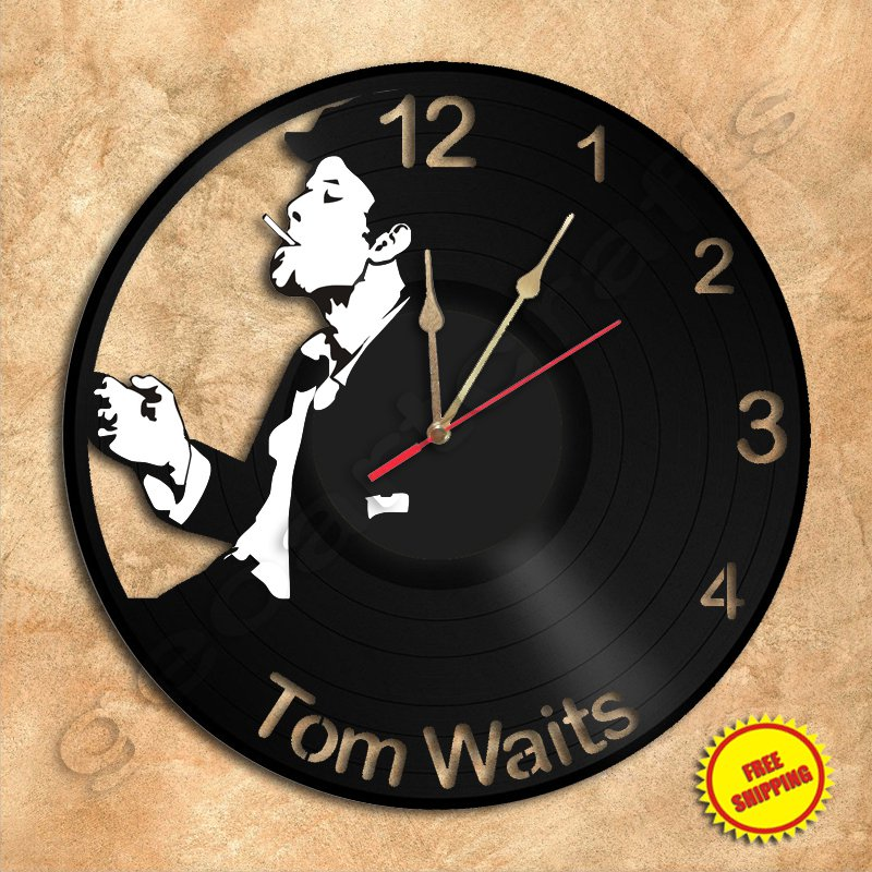 Tom Waits Wall Clock Vinyl Record Clock Wall Clock Handmade