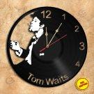 Tom Waits Wall Clock Vinyl Record Clock Wall Clock Handmade