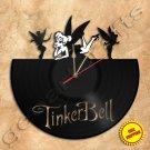 Tinkerbell Vinyl Record Clock Wall Clock Handmade