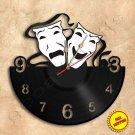 Theater Comedy Drama Vinyl Record Clock Wall Clock Handmade
