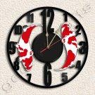 Koi Fish Goldfish Wall Clock Vinyl Record Clock home decoration