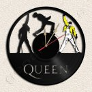 The Queen Band Vinyl Record Clock Upcycled Gift Idea