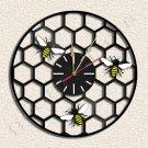 Wall Clock Bee Shell Vinyl Record Clock Upcycled Gift Idea