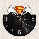 Superman Wall Clock  Vinyl Record Clock home decoration