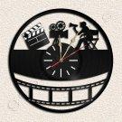 Wall Clock Cinema Vinyl Record Clock Upcycled Gift Idea