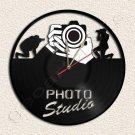 Wall Clock Photo Studio Vinyl Record Clock Upcycled Gift Idea