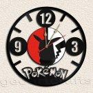 Pokemon Pikachu Wall Clock Vinyl Record Clock home decoration