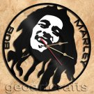 Bob Marley Vinyl Record Clock Upcycled Gift Idea