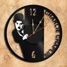 Charlie Chaplin Vinyl Record Clock Upcycled Gift Idea