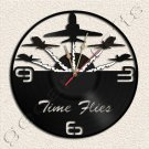 Acro Plane Team Wall Clock Vinyl Record Clock home decoration housewares