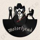 Motorhead Lemmy Vinyl Record Clock Upcycled Gift Idea