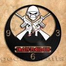 Iron Maiden Wall Clock  Vinyl Record Clock Upcycled Gift Idea