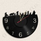 Hobbit Wall Clock Lord Of The Rings Vinyl Record Clock Upcycled Gift Idea