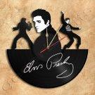 Elvis Vinyl Record Clock Upcycled Gift Idea