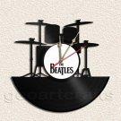 The Beatles Drum Set Clock Vinyl Record Clock Upcycled Gift Idea