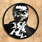 Louis Armstrong Vinyl Record Clock Upcycled Gift Idea